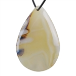 Botswana Agate Gemstone - Pear Freeform Pendant 36mm x 55mm - Pak of 1