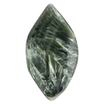 Natural Seraphinite Gemstone - Freeform Cabochon 17.5mm x 32mm - Pkg/1