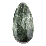 Natural Seraphinite Gemstone - Freeform Cabochon 17mm x 33mm - Pkg/1
