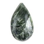 Natural Seraphinite Gemstone - Drop Cabochon 15mm x 25.5mm - Pkg/1