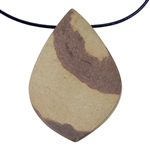 Natural Red Zebra Jasper Gemstone - Freeform Pendant 34mm x 49mm