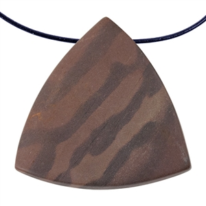 Natural Red Zebra Jasper Gemstone - Freeform Pendant 40mm x 40mm