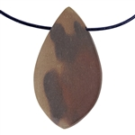Natural Red Zebra Jasper Gemstone - Freeform Pendant 28mm x 51mm