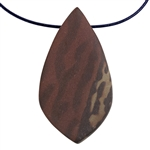 Natural Red Zebra Jasper Gemstone - Freeform Pendant 29mm x 54mm