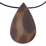 Natural Red Zebra Jasper Gemstone - Freeform Pendant 30mm x 48mm