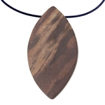 Natural Red Zebra Jasper Gemstone - Freeform Pendant 29mm x 53mm
