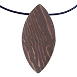 Natural Red Zebra Jasper Gemstone - Freeform Pendant 28mm x 57mm