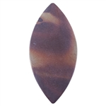 Natural Red Zebra Jasper Gemstone - Marquise Pendant 28mm x 59mm