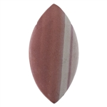 Natural Red Zebra Jasper Gemstone - Marquise Pendant 26mm x 52mm