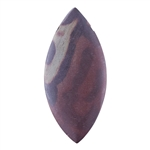 Natural Red Zebra Jasper Gemstone - Marquise Pendant 24mm x 52mm