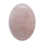 Natural Rose Quartz Gemstone - Cabochon Oval