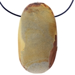 Wonderstone Jasper Gemstone - Oval Pendant 28mm x 50mm Pkg - 1