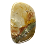Oregon Picture Jasper Gemstone - Freeform Cabochon 28mm x 46.5mm - Pkg - 1