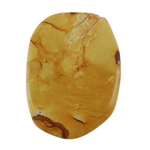 Picture Jasper Gemstone - Freeform 36mm x 49mm Pkg - 1
