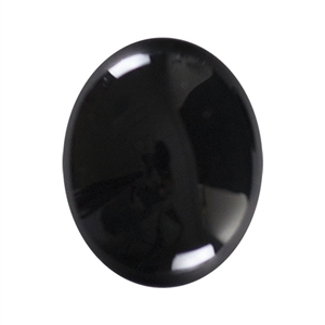 Natural Black Onyx Gemstone - Cabochon Oval