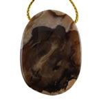 Natural Peanut Wood Gemstone - Pendant Oval 28mm x 39mm - Pak of 1