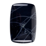 Spiderweb Obsidian Gemstone - Rectangle Cabochon 30mm x 45mm  Pkg - 1