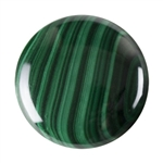 Natural Malachite Gemstone - Cabochon Round