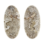 Crazy Lace Agate Gemstone - Oval Cabochon 13.5mm x 27.5mm - Matched Pair