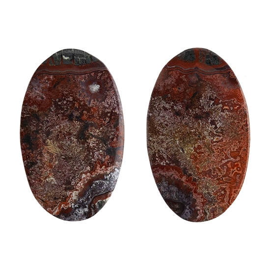37.5x18.5x5.5 MM Size Crazy Lace Agate Cabochons C2344 Natural Crazy Lace Agate Oval Shape Smooth Cabochon Loose Gemstone