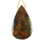 Natural African Green Opal Gemstone - Pendant Pear 33x55mm - Pak of 1