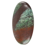 Natural Chrysocolla Cuprite Gemstone - Cabochon Oval 31mm x 60mm Pkg - 1