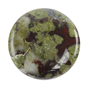 Dragon Blood Jasper Gemstone - Round Cabochon 25mm