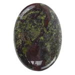 Dragon Blood Jasper Gemstone - Oval Cabochon 25mm x 35mm
