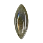 Natural Labradorite Gemstone - Cabochon Marquise 10mm x 25mm