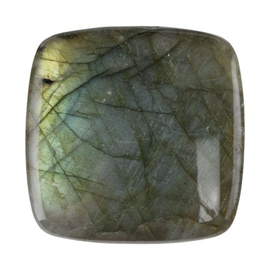 Natural Square Labradorite Gemstone Faceted Cabochon 4x4mm Semiprecious Stone