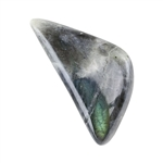 Natural Labradorite Gemstone - Freeform Cabochon 12mm x 24.5mm Pkg - 1
