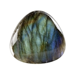 Natural Labradorite Gemstone - Cabochon Trillion