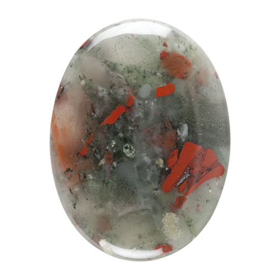Natural Bloodstone A Gemstone - Cabochon Oval | Cool Tools