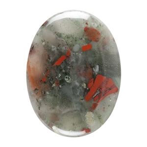 Natural Bloodstone A Gemstone - Cabochon Oval