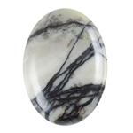 Natural Zebra Jasper Gemstone - Cabochon Oval 22x30mm