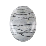 Natural Zebra Jasper Gemstone - Cabochon Oval 30x40mm