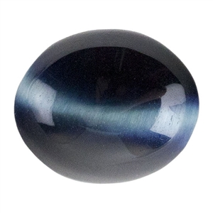 Hawk's Eye Quartz Gemstone - Cabochon Oval 10mm x 12mm - Pkg 1