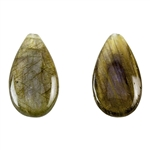 Labradorite Gemstone - Pear - Top-drilled Pendants 9mm x 16mm