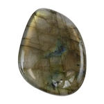 Natural Labradorite Gemstone - Cabochon Freeform 30.5mm x 40mm
