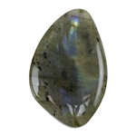 Natural Labradorite Gemstone - Cabochon Freeform 28.5mm x 43.5mm