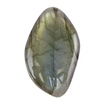 Natural Labradorite Gemstone - Cabochon Freeform 28mm x 45mm