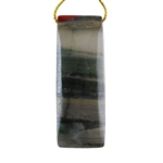 Natural Bloodstone Gemstone - Rectangle Pendant 20mm x 55mm - Pak of 1