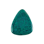 Stabilized Turquoise Gemstone - Cabochon Freeform 33x40mm - Pak of 1