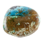 Stabilized Turquoise Gemstone - Cabochon Freeform 22.5mm x 27mm - Pkg of 1