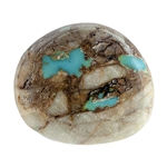 Stabilized Turquoise Gemstone - Cabochon Freeform 20mm x 23.5mm - Pkg of 1