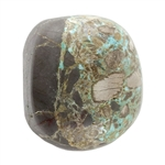 Stabilized Turquoise Gemstone - Cabochon Freeform 19mm x 21.5mm - Pkg of 1