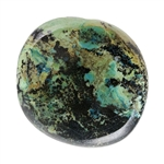 Stabilized Turquoise Gemstone - Cabochon Freeform 21mm x 22.5mm - Pkg of 1