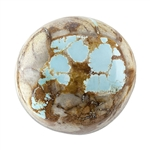 Stabilized Turquoise Gemstone - Cabochon Freeform 19.5mm x 20mm - Pkg of 1