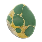 Stabilized Turquoise Gemstone - Cabochon Freeform 21mm x 25mm - Pkg of 1