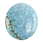 Turquoise Gemstone - Cabochon Oval 20mm x 23mm - Pkg/1